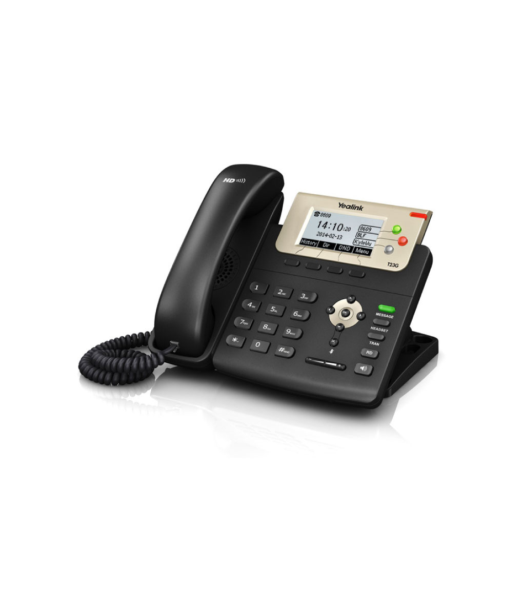 Yealink T23G is a SIP desk phone that supports 3 accounts