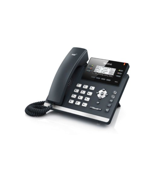 The front view of the Yealink T42G, an IP desk phone